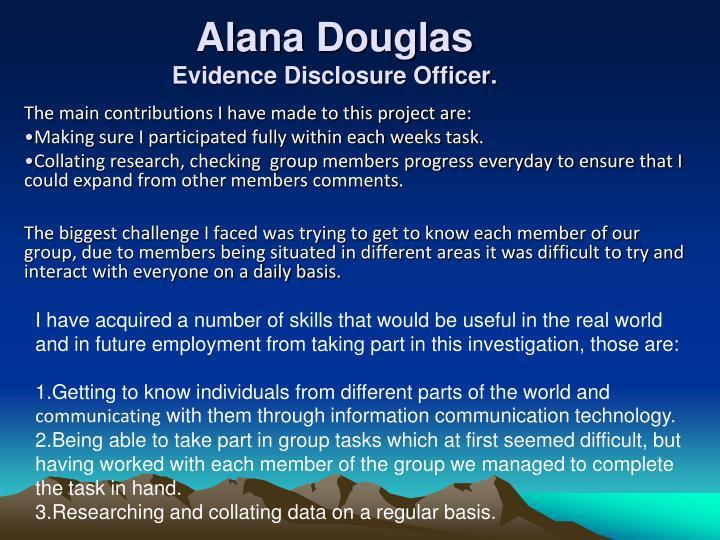 Alana Douglas