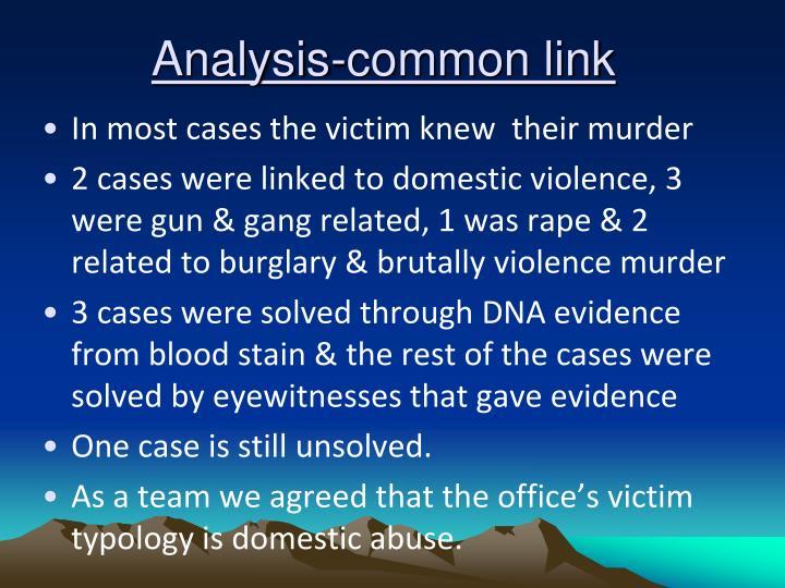 Analysis-common link