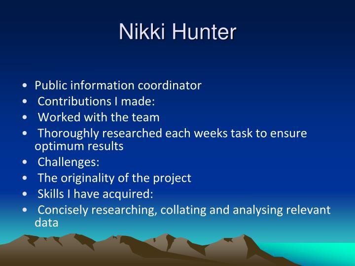 Nikki Hunter
