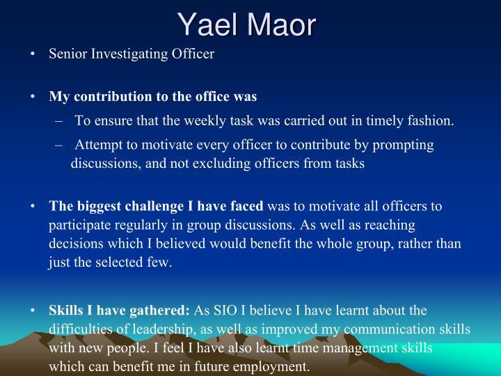 Yael Maor