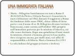 una immigrata italiana