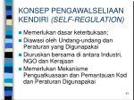 konsep pengawalseliaan kendiri self regulation