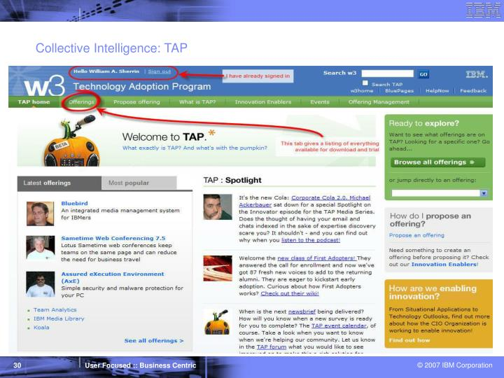 Collective Intelligence: TAP