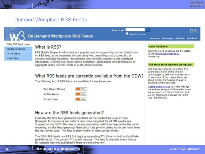 Demand Workplace RSS Feeds