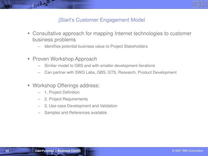 jStart's Customer Engagement Model