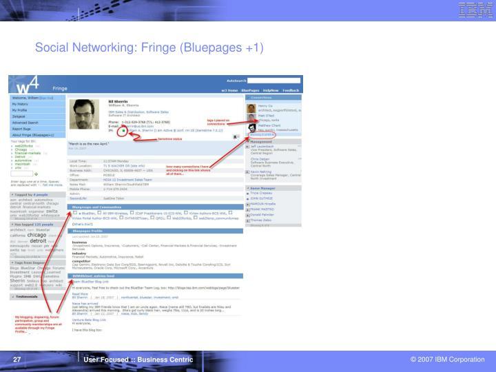 Social Networking: Fringe (Bluepages +1)