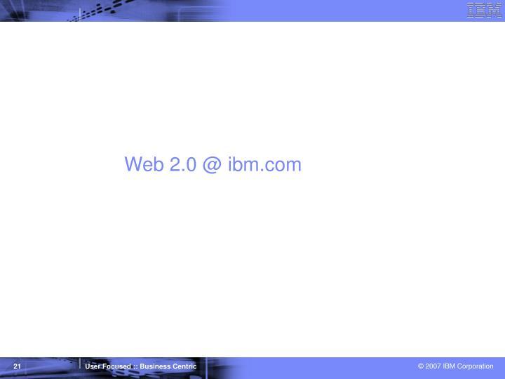 Web 2.0 @ ibm.com