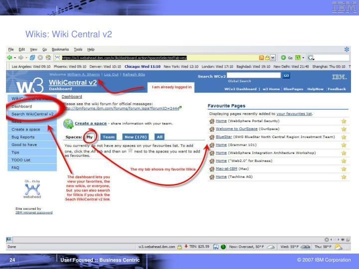 Wikis: Wiki Central v2