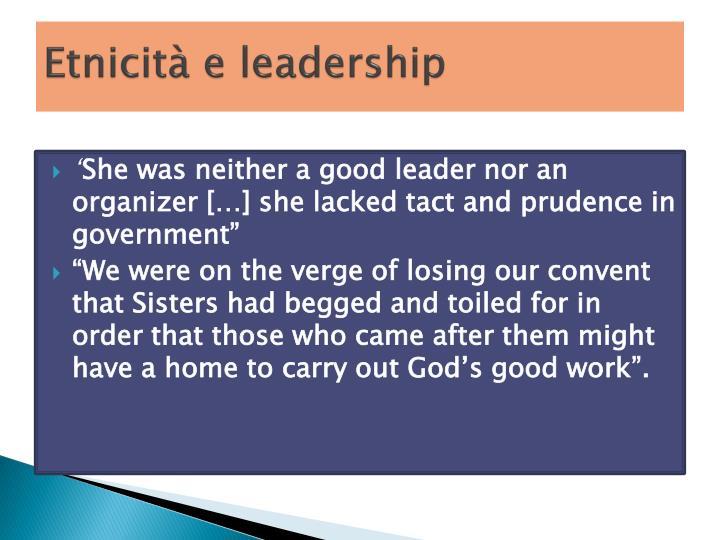 Etnicità e leadership
