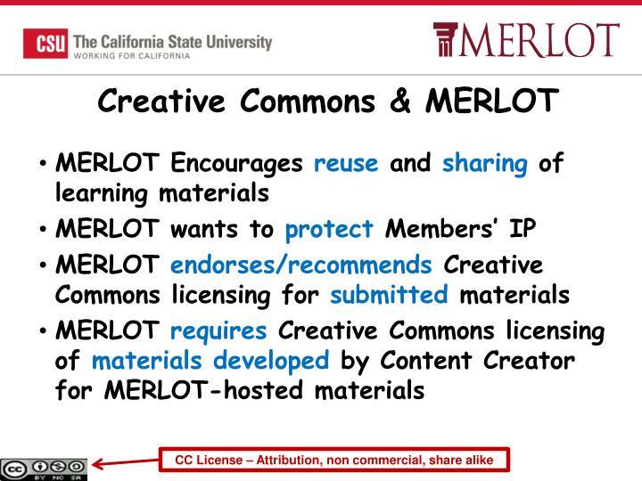 Creative Commons & MERLOT