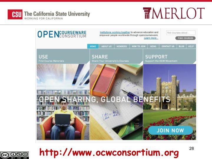 http://www.ocwconsortium.org