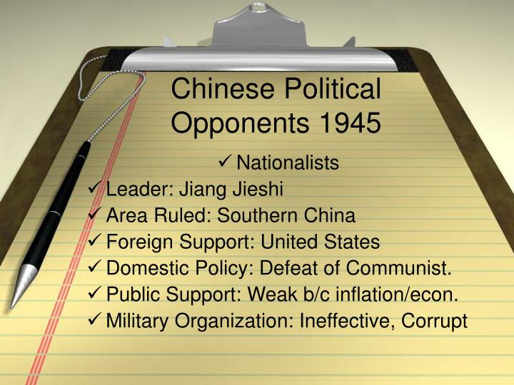 Chinese Political Opponents 1945