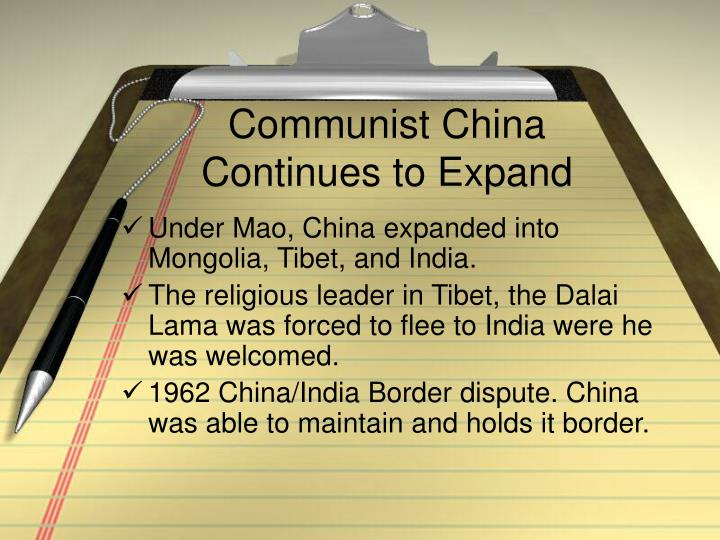 Communist China Continues to Expand