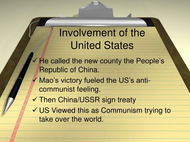 Involvement of the United States