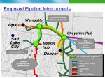 proposed pipeline interconnects