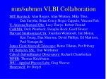 mm submm vlbi collaboration