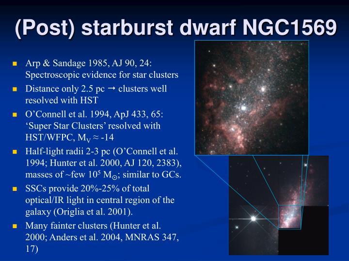 (Post) starburst dwarf NGC1569