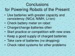 conclusions for powering robots of the present