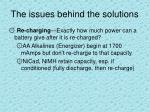 the issues behind the solutions2