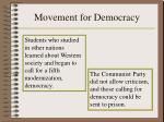 movement for democracy