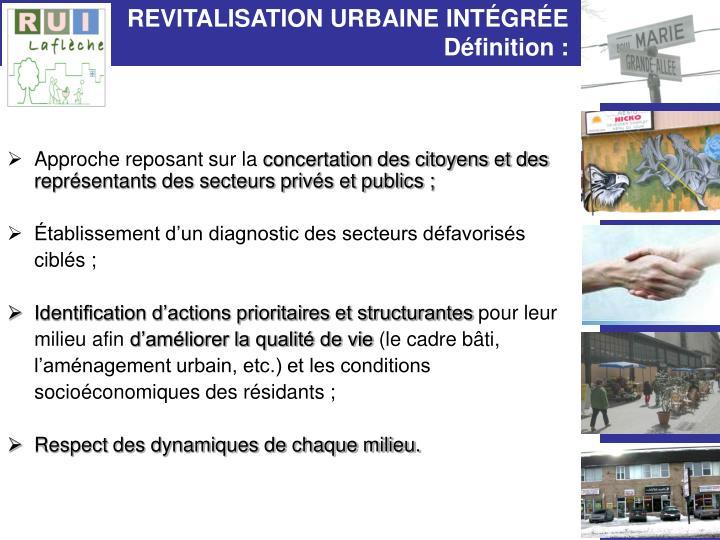 Revitalisation urbaine int gr e d finition