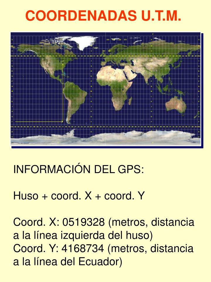 COORDENADAS U.T.M.
