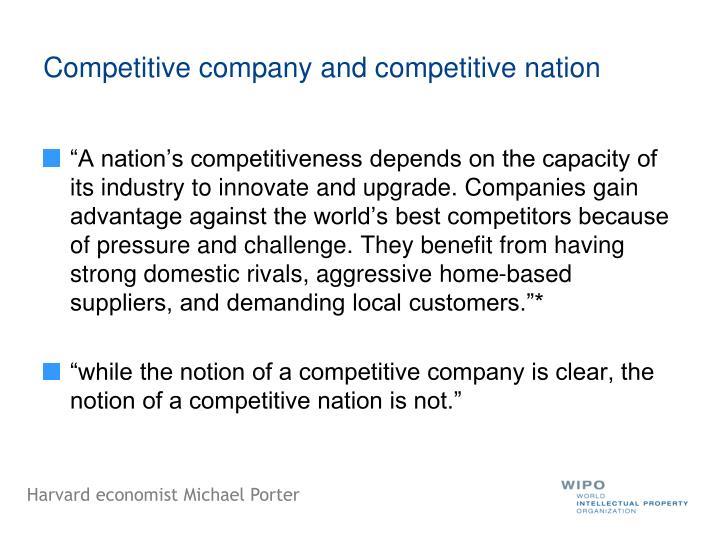 Competitive company and competitive nation