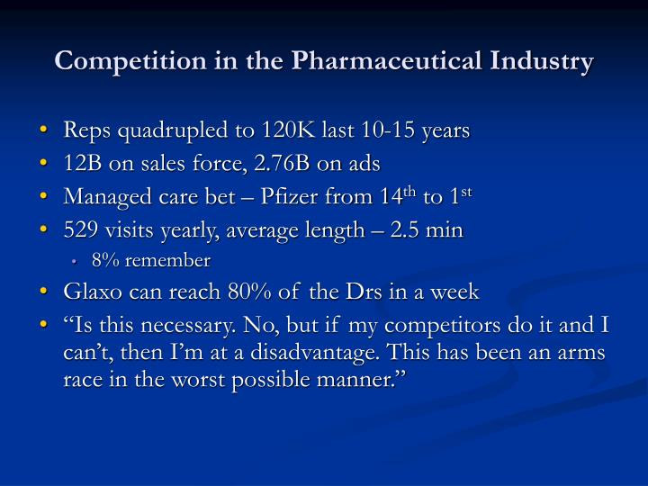 Competition in the Pharmaceutical Industry