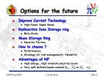 options for the future