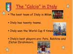 the calcio in italy