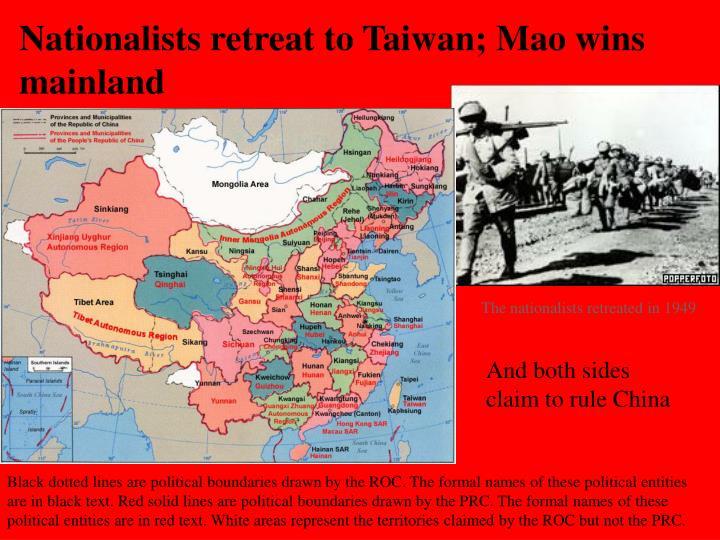 Nationalists retreat to Taiwan; Mao wins mainland
