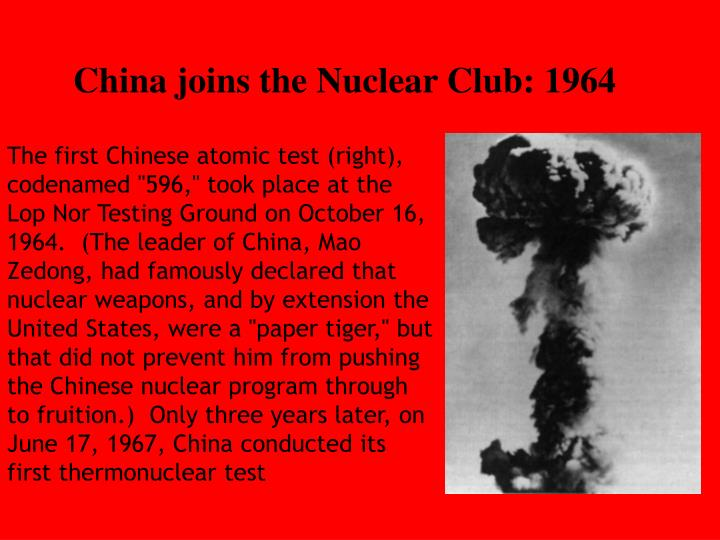 China joins the Nuclear Club: 1964