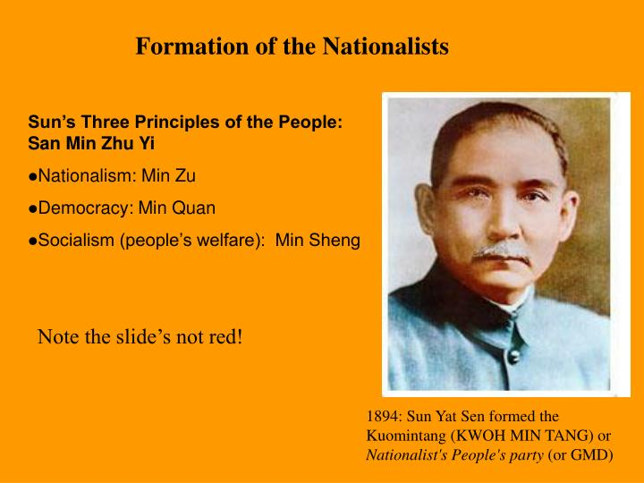 Formation of the Nationalists