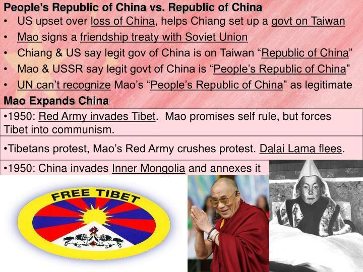 People's Republic of China vs. Republic of China