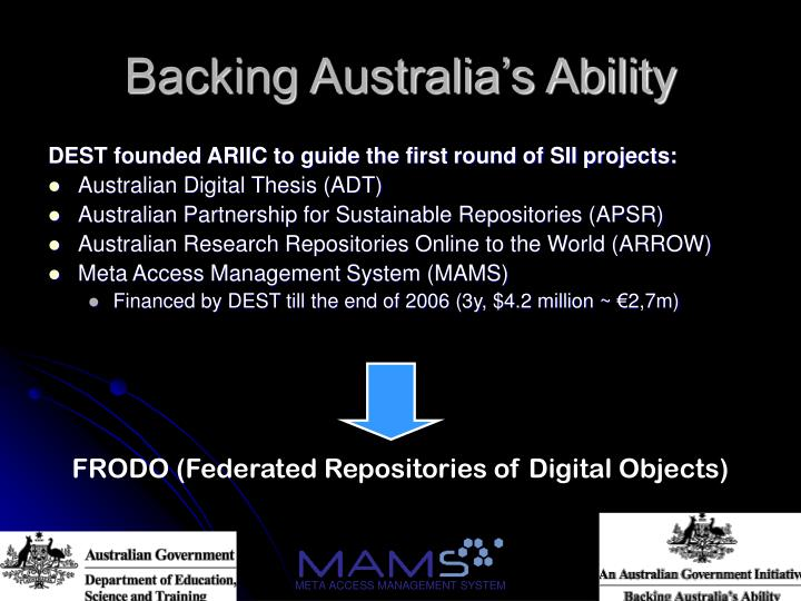 Backing australia s ability