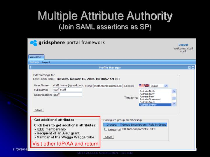 Multiple Attribute Authority