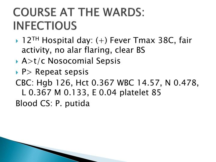 COURSE AT THE WARDS: INFECTIOUS