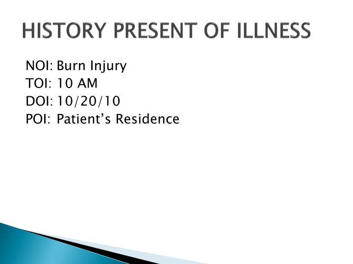 History present of illness