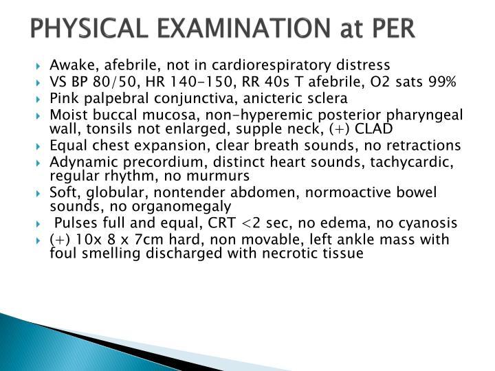 PHYSICAL EXAMINATION at PER