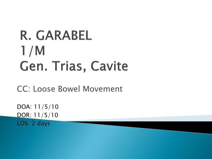 R. GARABEL