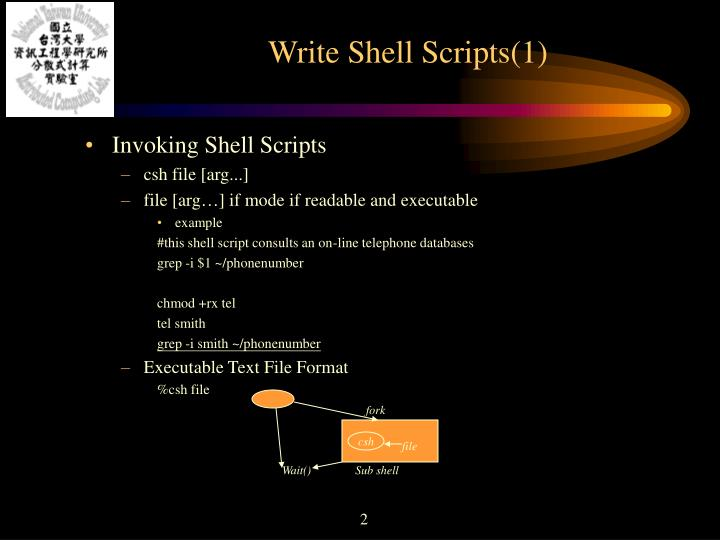 Write shell scripts 1