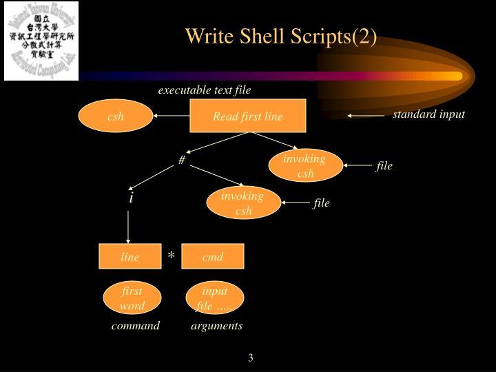 Write shell scripts 2