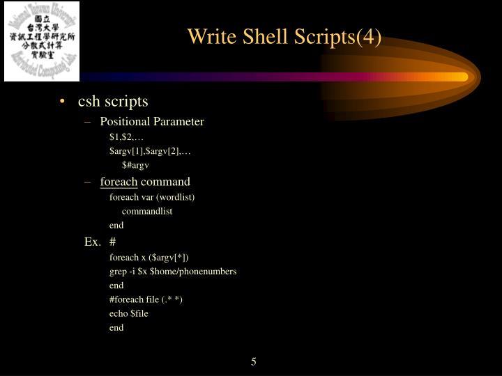 Write Shell Scripts(4)