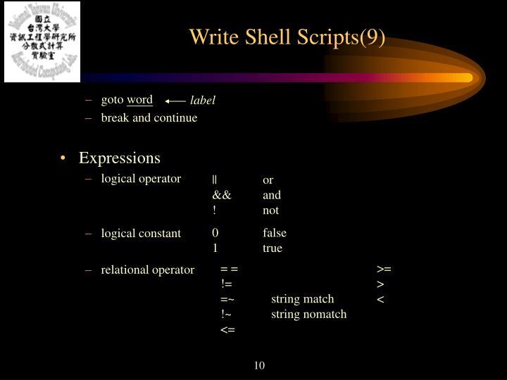 Write Shell Scripts(9)