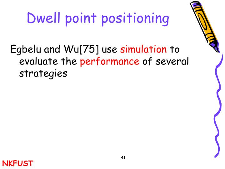 Dwell point positioning