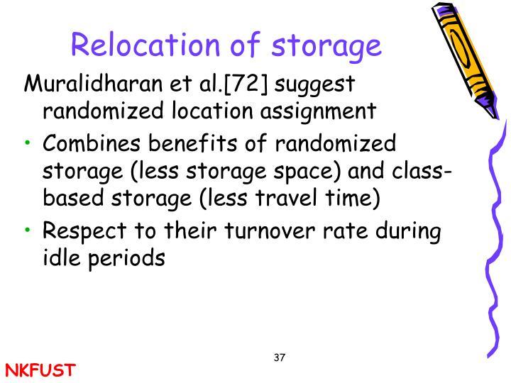 Relocation of storage