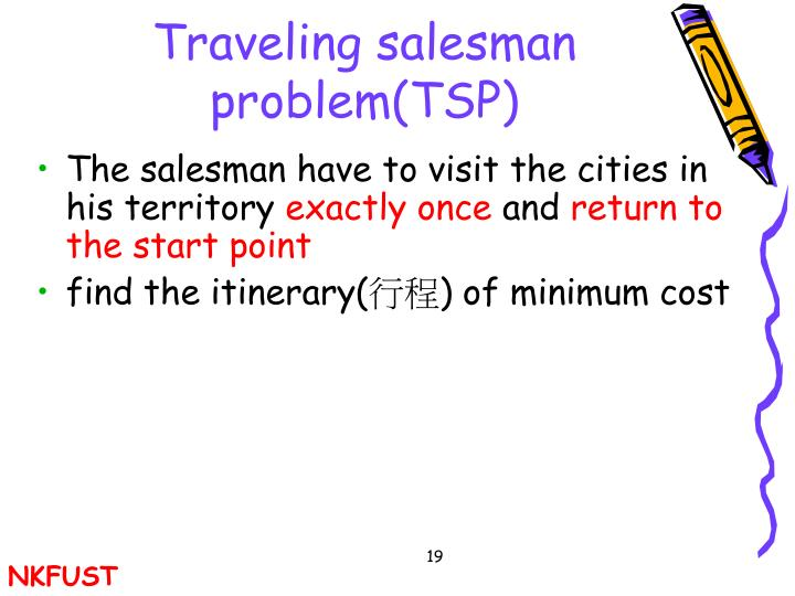 Traveling salesman problem(TSP)