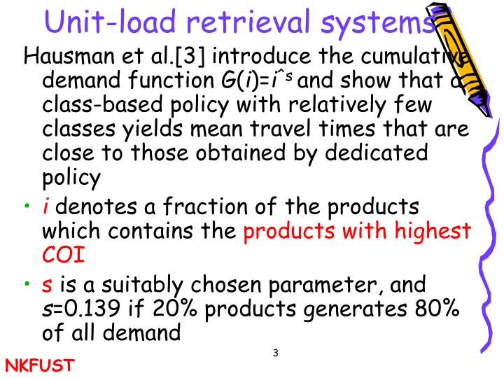 Unit load retrieval systems1