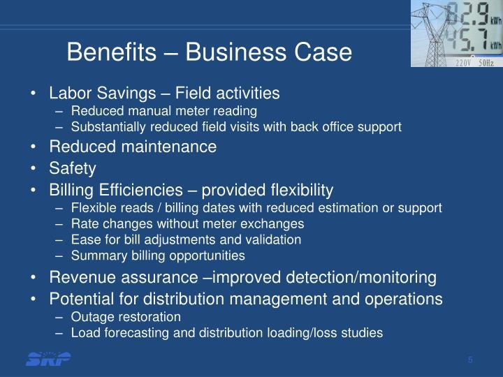 Benefits – Business Case