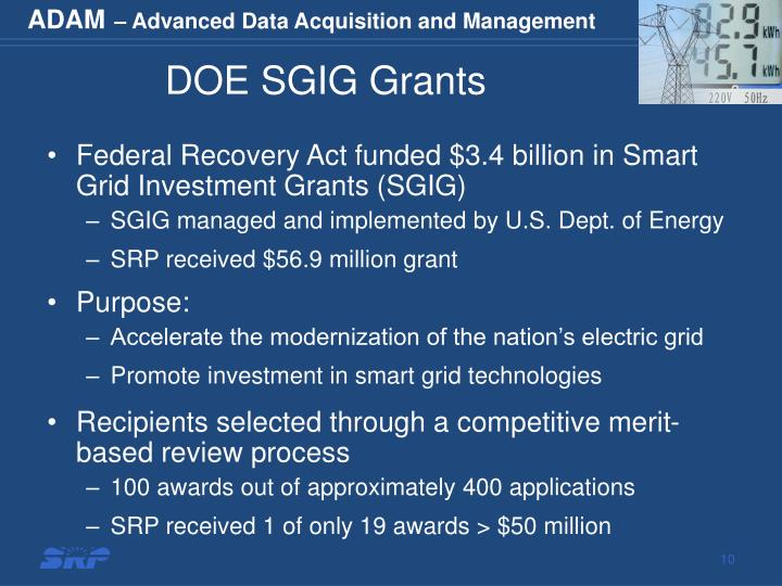 DOE SGIG Grants